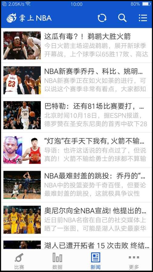 掌上NBA新闻