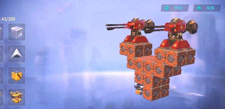 重装上阵:激斗擂台模式2人合体战车机甲图纸和玩法教学!