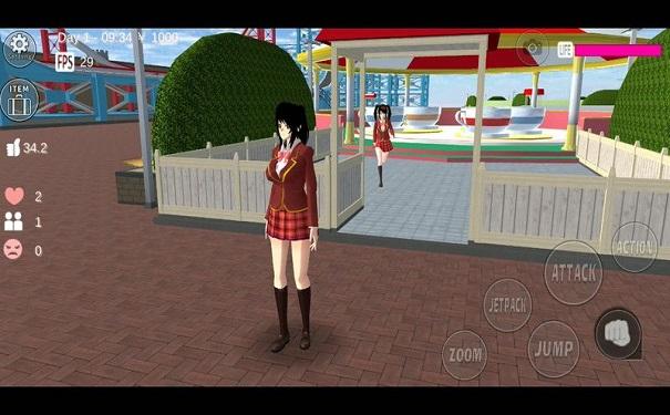 樱花校园女生模拟器校园场景