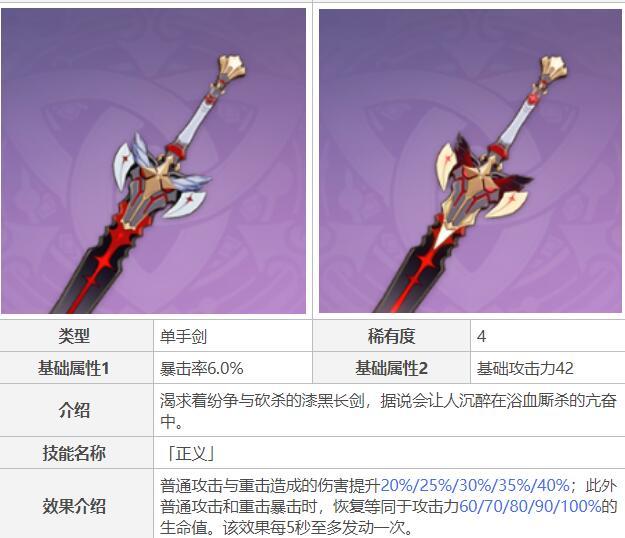 原神磐岩结绿和高精炼黑剑哪个好?