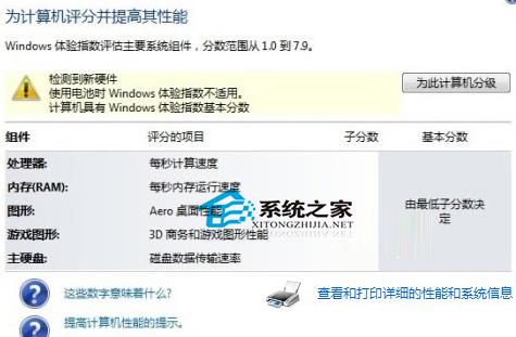 Win7 64位系统不能进行硬件评分怎么办?